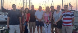 The Force and Cafferty families on Block Island