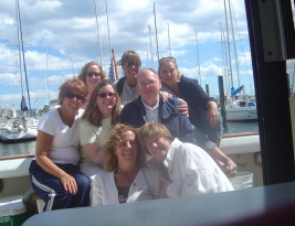 Marie, Cheryl and friends and family in Newport